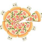 chiavetta usb sagomabile serie cibo pizza