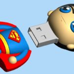 chiavetta usb 3d forma superman