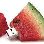 chiavetta usb sagomabile serie cibo anguria