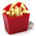chiavetta usb sagomabile serie cibo patatine