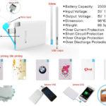 power bank linea maspower credit card model
