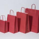 shopper carta manico intrecciato