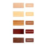 colori chiavetta legno