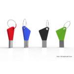 KEY DESIGN CHIAVETTA USB FORMA DI CHIAVE CON ANELLINO PORTACHIAVI IN METALLO E SILICONE by masitalia