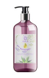 nutrigel gel igienizzante igea con aloe vera olio d'oliva e lavanda cura e idrata le mani rendendole morbidissime by masitalia 50