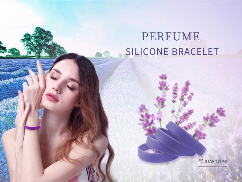 braccialetto silicone profumo lavanda