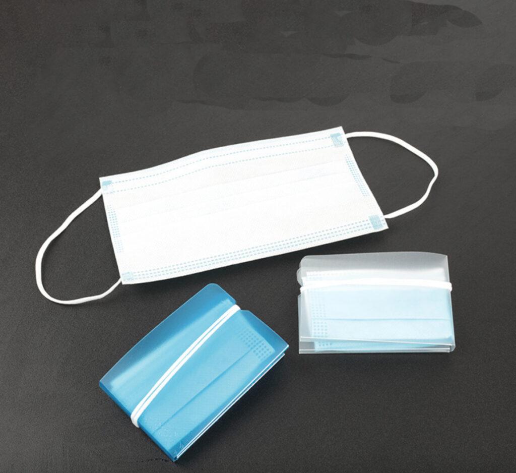 Fold IGEA porta mascherina in polipropilene si chiude con elestico della mascherina prodotto by masitalia